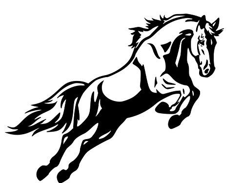 EricauBird Pferdeanhänger Aufkleber Pferde Springen Aufkleber Auto Decal Truck Decal SUV Decal Lg. Anhänger Aufkleber 91,4 x 28 255-HS leicht anzubringen und zu entfernen