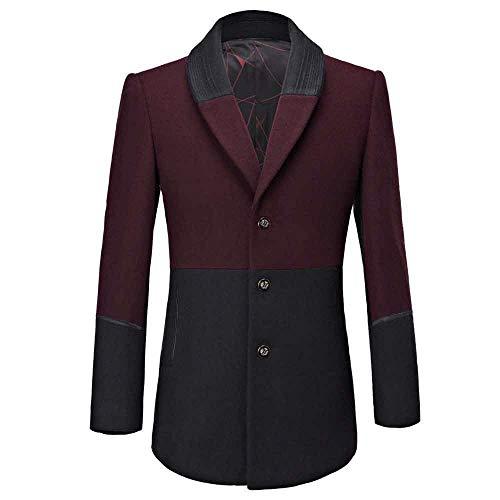 Herren Jackett Langer Anzug,KaloryWee Männer Herbst Winter Coat Knopf Spleiß Business Lange Anzug verdicken schlanke Mantel Jacke Herren frühjahr,Winterjacke