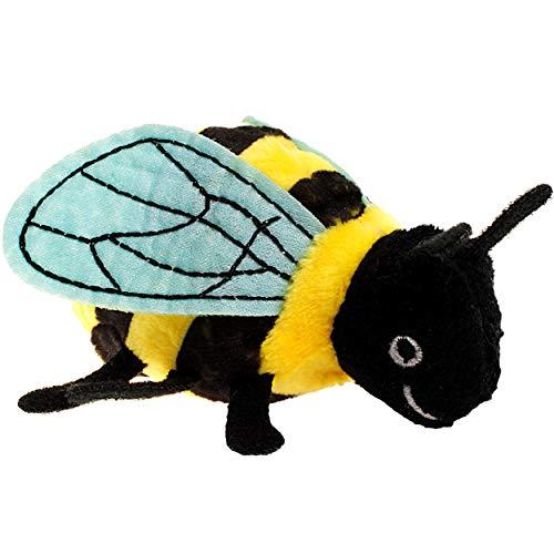 alles-meine.de GmbH Fingerpuppe - Biene Hummel / Wespe Vogel Tier - Bauernhof Handspielpuppe - Kasperlfigur - Honigbiene Honig - Fingerpuppen für Kinder & Erwachsene - Plüschtier