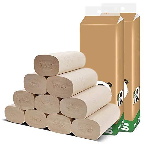 ILS – 16 rollos de toalla de aseo natural de pulpa de bambú densado con papel coreless para limpieza diaria de cocina y baño doméstico