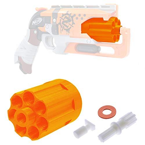 FenglinTech 7 Darts Cylinder Magazine for Nerf Zombie Strike Hammershot Blaster - (Official 5 Darts)