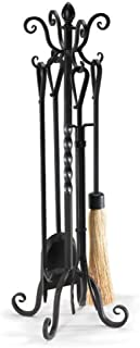 NAPA FORGE Napa Forge Pilgrim Home Hearth 19006 Victorian Fireplace Tool Set, Black, 19006, Black, 33″, 17 lbs