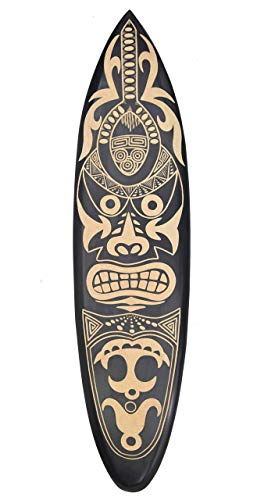Interlifestyle Maorí Tribal Decoración Tabla de Surf de Madera 100cm Surfer Decoración Tabla de Surf Polinesia