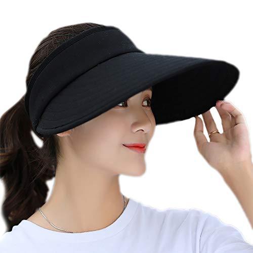 Outflower Pamela de Algodón Cubrir Cara para Mujer y Hombre Sombrero de Verano Gorro de Color Pamela Playa Sombrero ala Ancha Mujer Gorro Plegable Moda de Viajes Visera para Protección UV