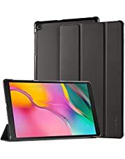 EasyAcc Hoes voor Samsung Galaxy Tab A 10.1 2019 T510 / T515 - ultradun met standaard functie Slim PU lederen Smart Cover Past voor Samsung Galaxy Tab A T510 / T515 10,1 inch 2019, zwart