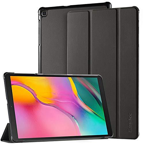EasyAcc Hülle Kompatibel mit Samsung Galaxy Tab A 10.1 2019 T510/T515 - Ultra Dünn mit Standfunktion Slim PU Leder Smart Schutzhülle Kompatibel mit Samsung Galaxy Tab A 10.1 Zoll 2019, Schwarz