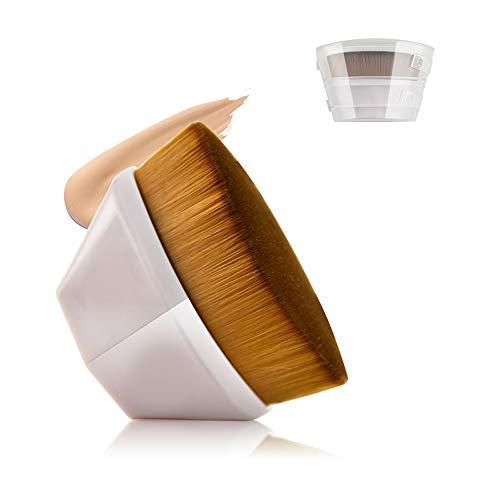 ZHHAOXINPA Foundation Brush Make Up Brush Platte gezichtsborstels - Perfect voor vloeibaar, crèmekleurig of onberispelijk poeder - polijsten, stippen, concealer