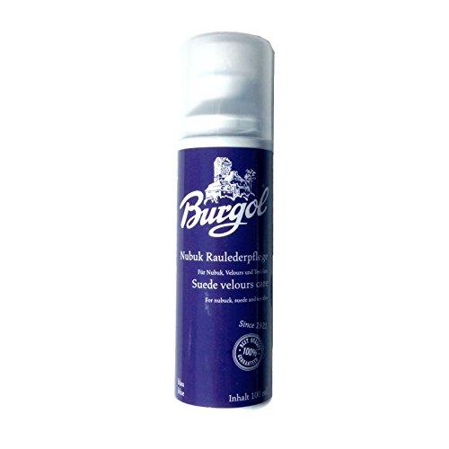 Burgol Nubuk Raulederpflege 100 ml, Wildlederpflege für Nubuk Velour und Textilien 9 Farben (blau)