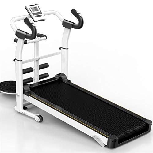 Best Deals! qaz Treadmill Household Small Fitness Weight Loss Equipment Mini Folding Mechanical Walk...