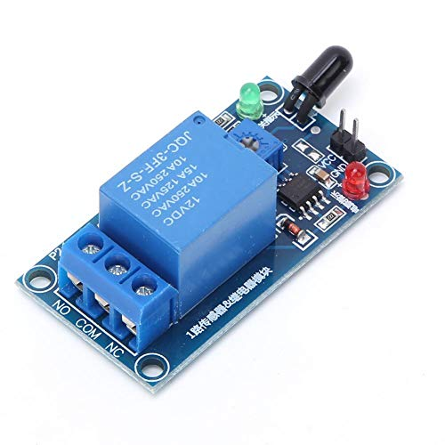 Jeanoko Sensor infrarrojo de detección de Incendios Detector de Incendios Sensor de Llama 760~1100nm 12VDC Duradero para alarmas de Incendio