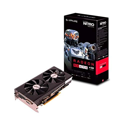 Sapphire RX470 Nitro - Tarjeta gráfica de 4 GB, Color Negro