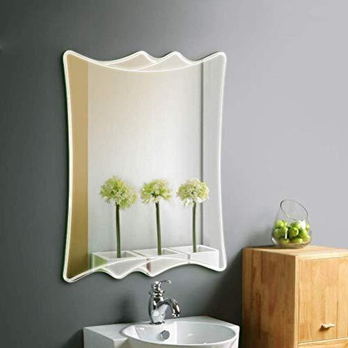 LYMUP Espejo de espejo minimalista sin marco, montado en la pared, para baño, hotel, mesa de maquillaje, espejo decorativo, espejo HD para maquillaje (color: 45 x 60 cm)