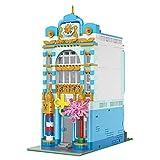 LALAmi Edificios de la serie European Street View, 2 en 1, 1748 piezas, modelo arquitectónico, kit de construcción de casa, modelo modular compatible con Lego