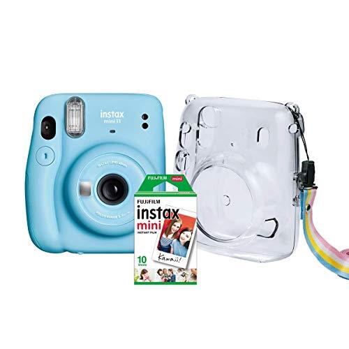 Kit Câmera Instax Mini 11 Fujifilm do Brasil - Azul Bolsa