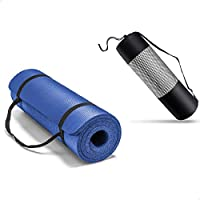 Gymbit Yoga Mat with Carrying Strap and Bag, 10 mm - Blue