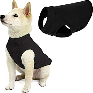 Gooby Stretch Fleece Dog Vest – Pullover Fleece Dog Sweater – Warm Dog Jacket Winter Dog Clothes Sweater Vest – Dog Sweaters for Small Dogs to Large Dogs for Indoor and Outdoor Use