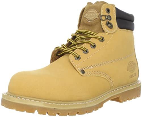 Dickies Men& 039;s Raider Steel Toe Work Stiefel, Wheat,9 M US
