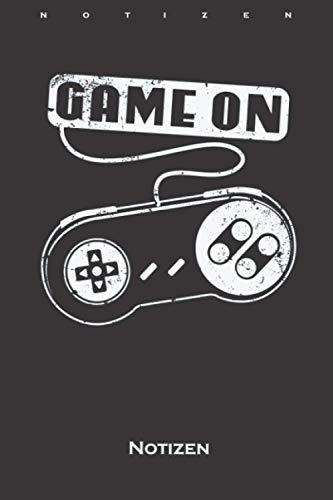 Game On alter Controller Videospiele Notizbuch: Punkteraster Notizbuch für Fans und Freunde der digitalen und unbegrenzten Welt im world wide web
