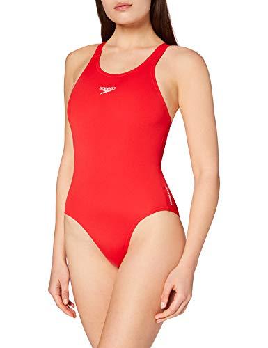 Speedo Damen Badeanzug Essential Endurance Plus Medalist, Usa Red, 44