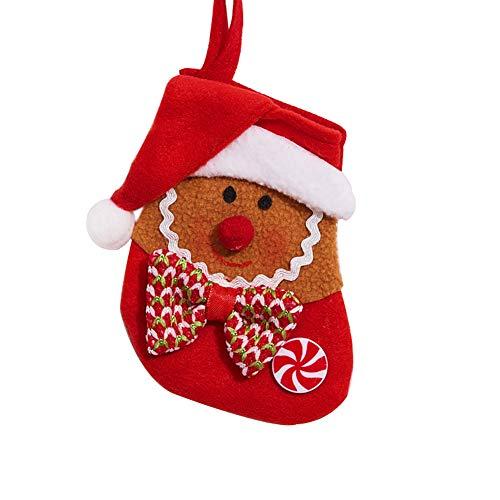 Demarkt kerstkous kerstkous decoratie open haard Christmas Stocking Sinterklaarzen om te vullen, ophangen