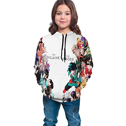 SUNERLADY Anime My Hero Academia Youth Pullover Boys and Girls Hoodie XL(18-20)
