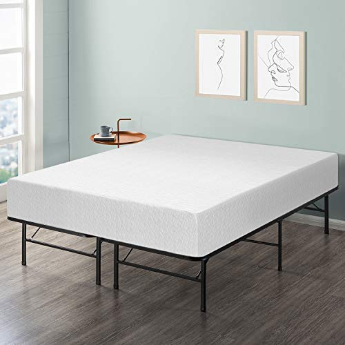 "Best Price Mattress 12"" Comfort Premium Memory Foam Mattress and Bed Frame Set, King"