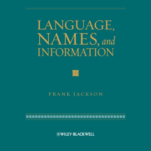 Language, Names and Information audiobook cover art