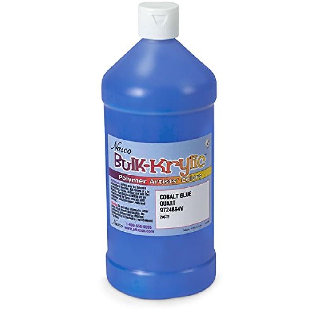 Nasco 9724894(V) Bulk-Krylic Acrylic Paint, 1 Quart, Cobalt Blue