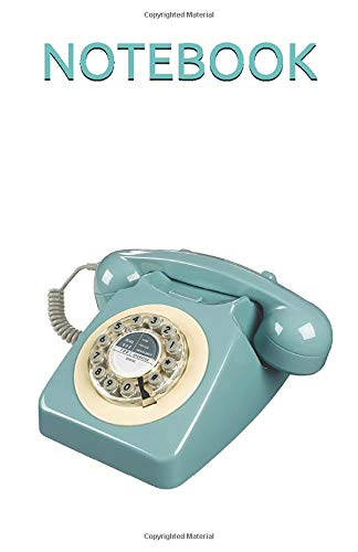 NOTEBOOK: French Blue Retro Phone