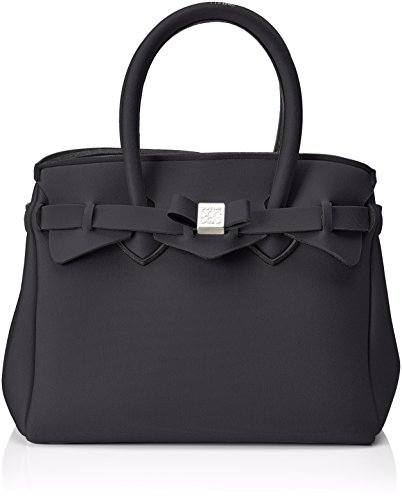 save my bag Petite Miss, Borsa a Mano Donna, Nero, 26x23x13 cm (W x H x L)