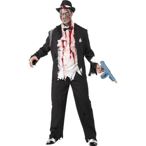 SMIFFYS Costume Zombie Gangster, comprende Giacca, Pantaloni, Top, Pezzi in Lattice, e C