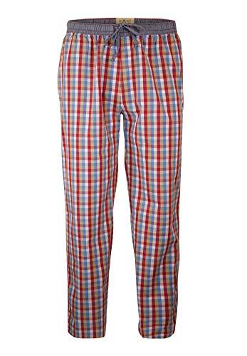 Pantalones de pijama de Luca David Olden Glory con cómodo, corte amplio y bonito diseño vintage de 100% algodón suave azul a rayas XX-Large