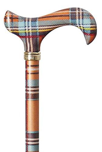 Bastón Fashion-Derby Scottish Highlands, multicolor, mango de plástico ABS, bastón de metal ligero, altura regulable, tope de goma.