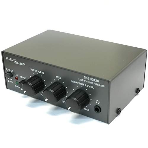 Learn More About Stellar Labs Phono Preamp for Turntable, Pre Amp with USB Digital Recording, Input ...