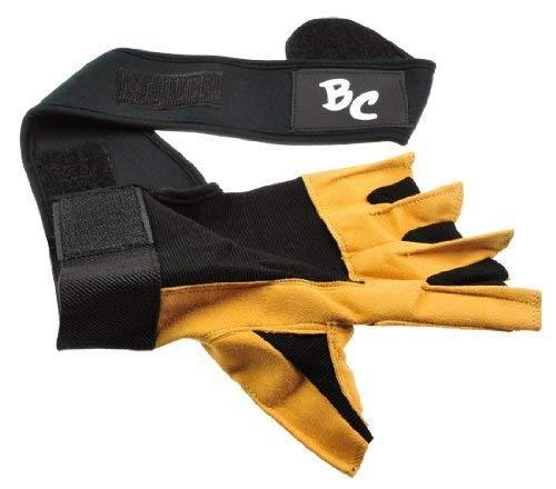 """Deluxe Leder Trainings- und Fitness schwarz / braun – Handschuhe """" The Bat"""" inkl. elastischer Nylon Handgelenksbandagen - 3"""