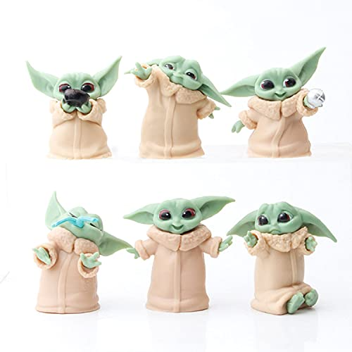 6-Pack Baby Yoda Gifts for Child, 2.2 inch Baby Yoda Action Figures Mandalorian Star Wars Toys for Kids Baby Yoda…