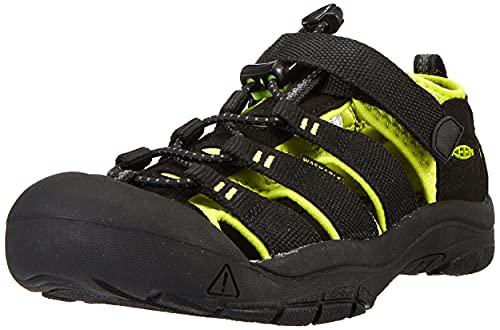 KEEN Little Kid (4-8 Years) Newport H2 Black/Lime Green Sandal - 2 M US Little Kid