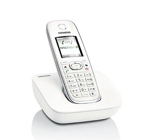 Gigaset C590 Schnurlostelefon (4,57 cm (1.8 Zoll) TFT-Farb-Bildschirm, Freisprechfunktion) weiß