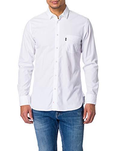 BOSS Magneton_1 10230792 01 Camisa, White100, L para Hombre