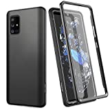 SURITCH for Samsung A71 5G Case [Not Fit A71 5G UW] [Not Fit A71 4G Version], [Built-in Screen Protector] Full Body Protection Shockproof Protective Cover for Samsung Galaxy A71 5G 6.7 inch-Black