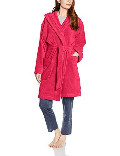 Féraud Damen Bademantel 3661727, Einfarbig, Gr. 50 (Herstellergröße: XL), Rosa (Pink 10012)