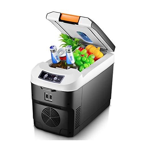 Yann Refrigerador eléctrico y calentador, enfriamiento termoeléctrico portátil, 12V / 24V / 220V Pantalla táctil Mini frigorífico congelador, para bebidas, cerveza, vino, mariscos, frutas, hogar y via