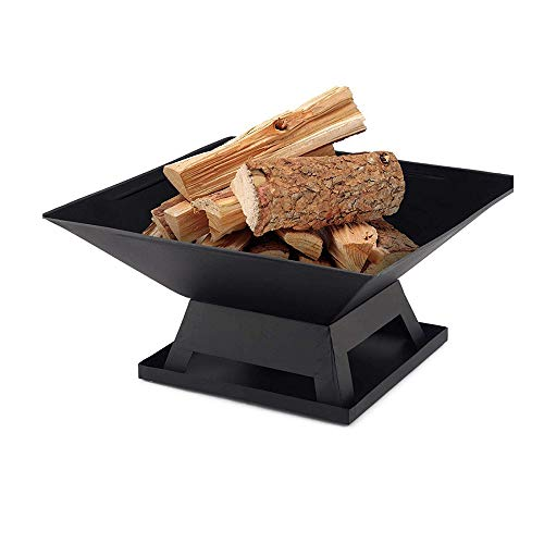 NANE Home Hut Fire Pit Steel Outdoor Garden Heater Bronze Fire Pit Charcoal Burning Fire Bowl,Fire Pits for Garden