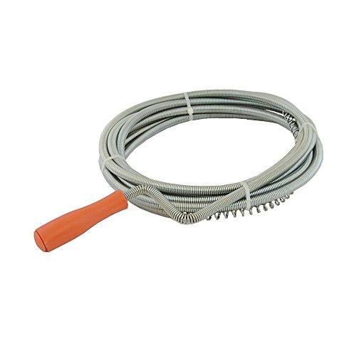 DWT-Germany 100511 4m x 6mm Rohrreinigungswelle Flexible Spirale Abflussspirale Rohr Reinigungsspirale Abflussreiniger Rohrreinigungs Welle Abfluss Spiralle Rohr Reinigungs Spirale