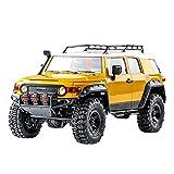Xshion Coche teledirigido para adultos RTR 4WD Offroad/18, 4X4 RC Crawler todoterreno para exteriores con motores, luces LED y batería