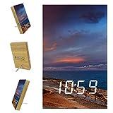 Lyetny Castle Point Lighthouse New Zealand Digital Alarm Clock Display Time Temperature Date LED Decorative Clock