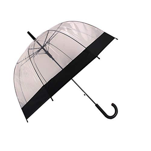 Queen Boutiques Gemakkelijk op te vouwen esdoornblad rechte schacht dikke paddestoel gebogen prinses transparant birdcage paraplu regen- en winddicht