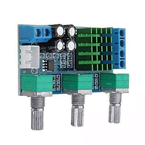 GYW-YW Tablero de Control DC 12V a 24V 2x80W XH-M567 de Doble Canal Digital Puede Ajustar el Volumen de Salida del Amplificador Junta de Alta y Baja Ajuste de a Bordo Amplificador Operacional del Pun