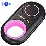 [Upgraded] Bluetooth Remote Shutter for iPhone & Android Camera Control Selfie Button for iPad iPod Tablet, HD Selfie Clicker for Photos & Videos (Pink)