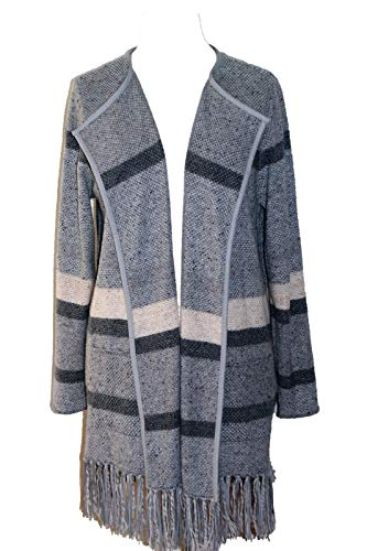 SAMOON by Gerry Weber Damen Cosy Autumn Day Strickjacke, Grau (Silver Ray Ringel 2007), 46